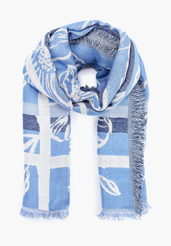 женский платок tom tailor, голубой