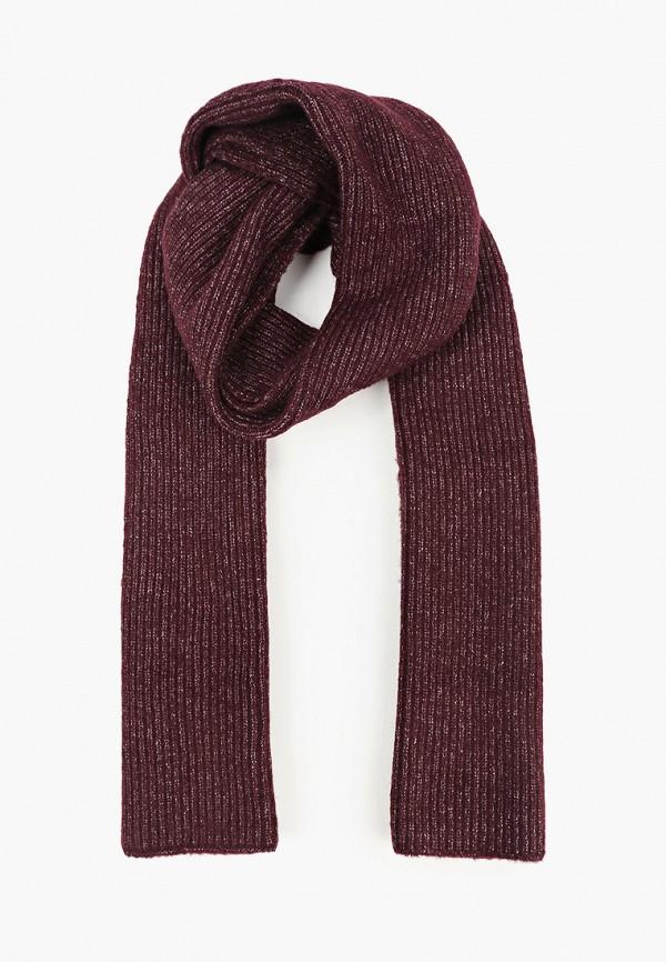 женский шарф tom tailor, бордовый