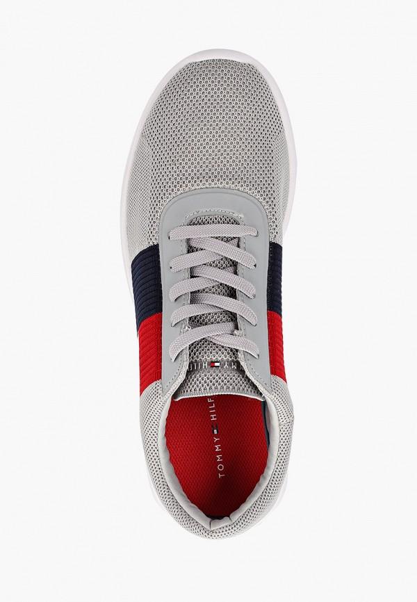 Фото 4 - мужские кроссовки Tommy Hilfiger серого цвета