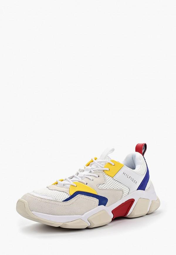 Фото 2 - мужские кроссовки Tommy Hilfiger белого цвета