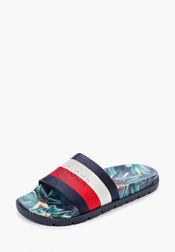 Фото 2 - мужские сандали Tommy Hilfiger разноцветного цвета