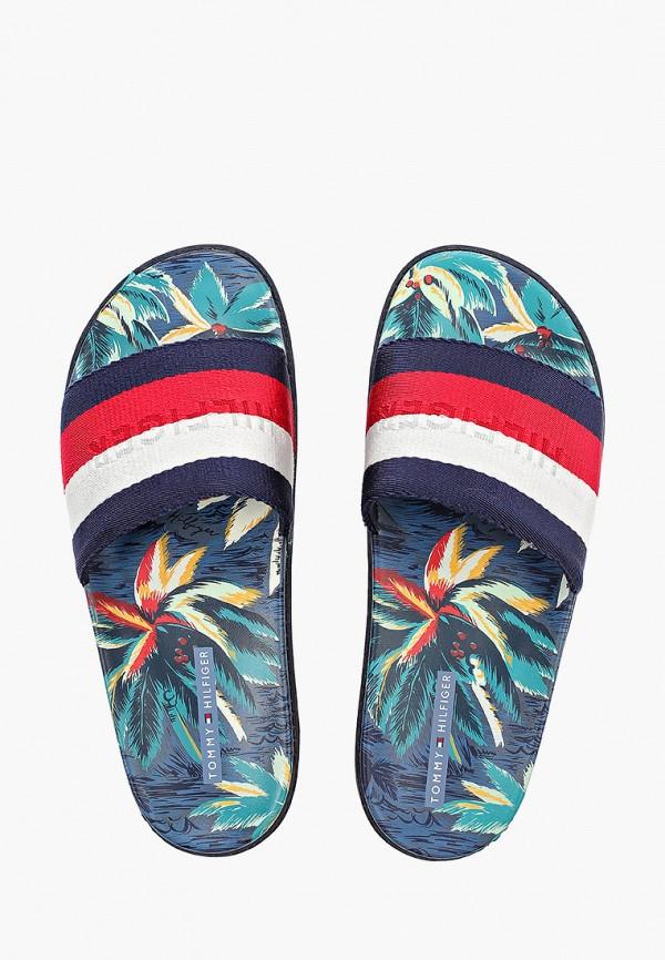 Фото 4 - мужские сандали Tommy Hilfiger разноцветного цвета