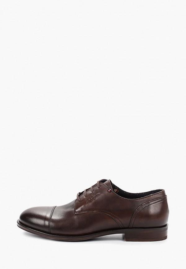 мужские туфли tommy hilfiger, коричневые