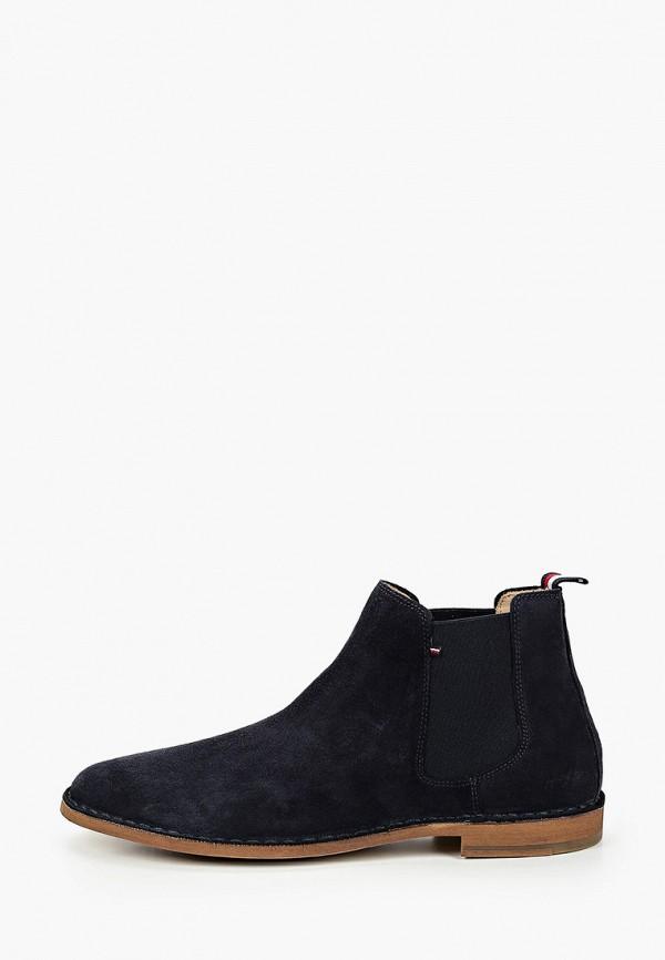 мужские ботинки-челси tommy hilfiger, синие