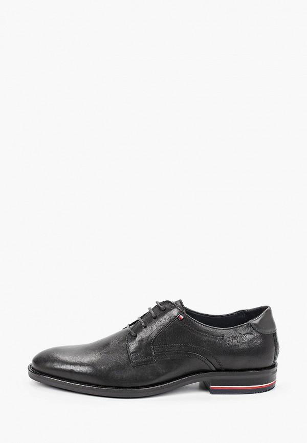 мужские туфли-дерби tommy hilfiger, черные