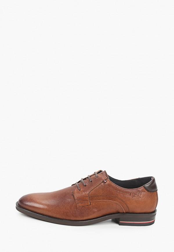 мужские туфли-дерби tommy hilfiger, коричневые