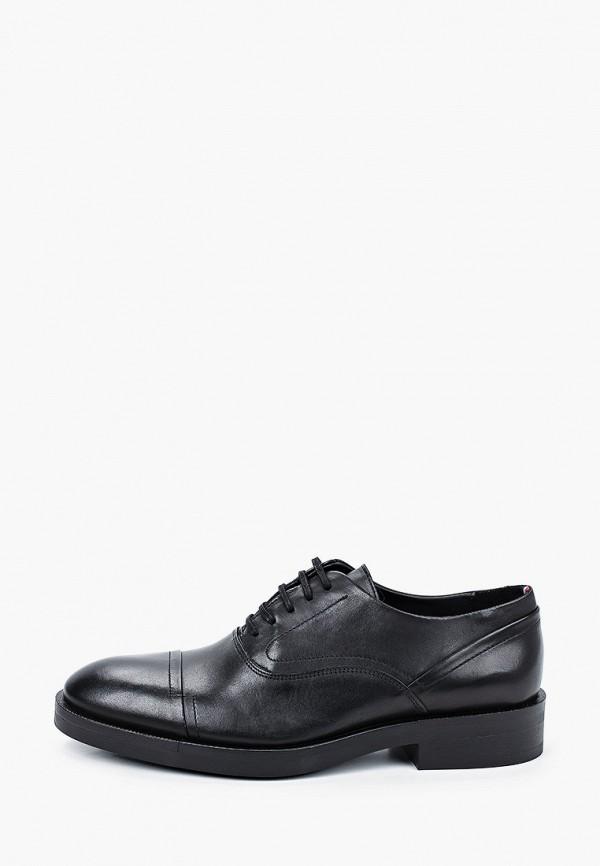 мужские туфли-оксфорды tommy hilfiger, черные
