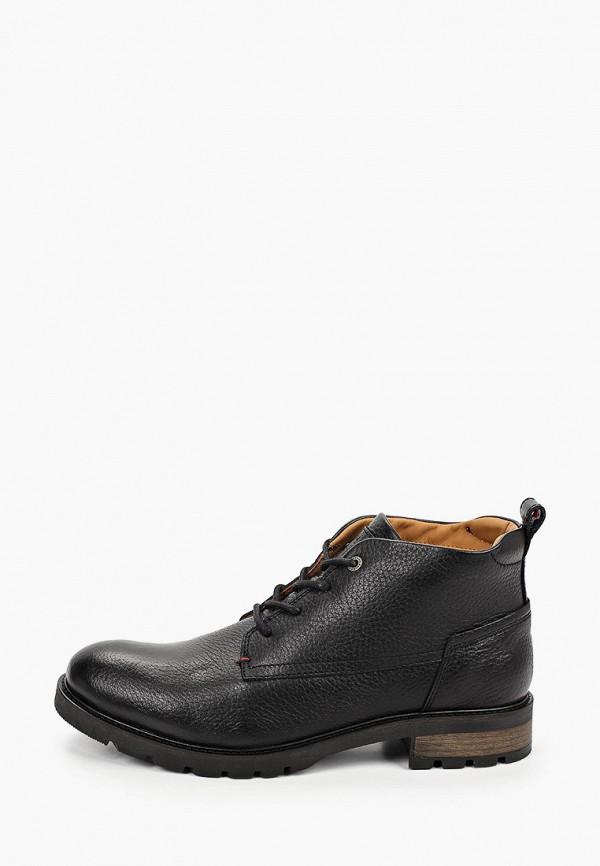 мужские высокие ботинки tommy hilfiger, черные