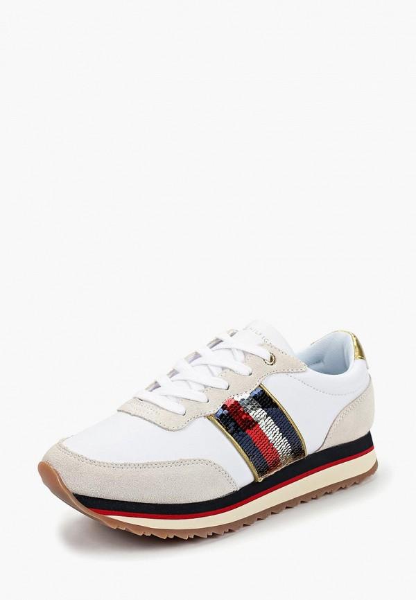 женские кроссовки tommy hilfiger, белые