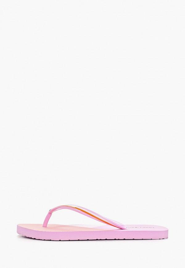Фото - Сланцы Tommy Hilfiger розового цвета