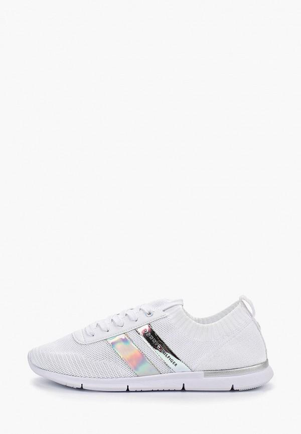 Фото - женские кроссовки Tommy Hilfiger белого цвета