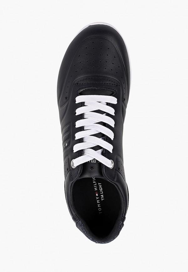 Фото 4 - Женские кроссовки Tommy Hilfiger черного цвета