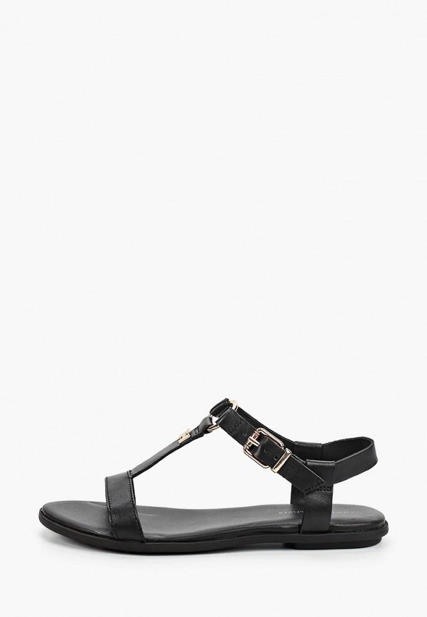 женские сандалии tommy hilfiger, черные