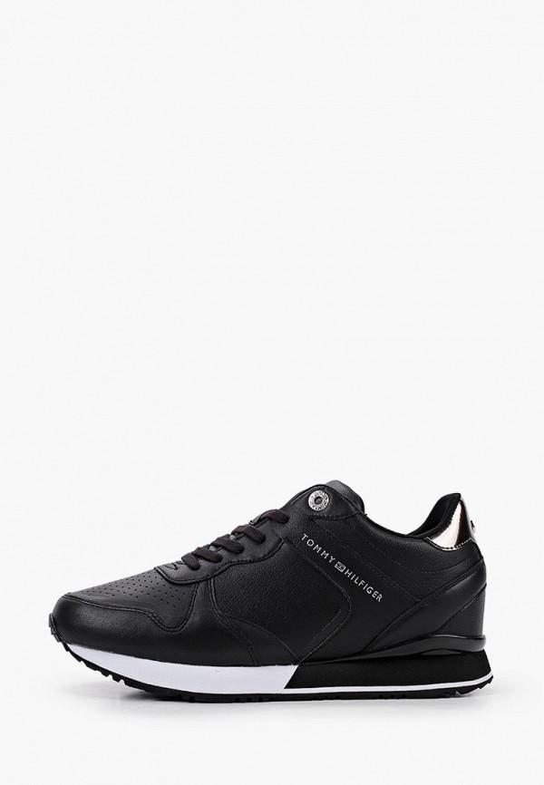 женские кроссовки tommy hilfiger, черные