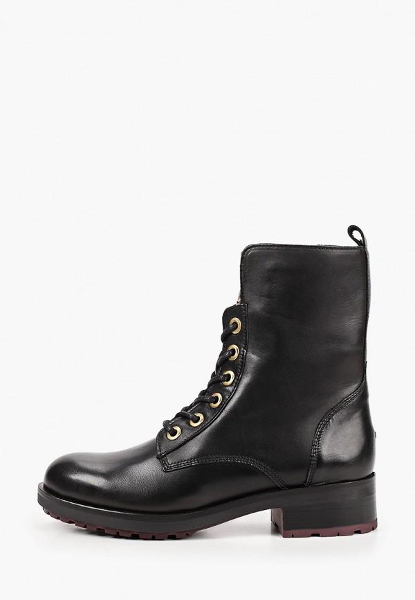 женские высокие ботинки tommy hilfiger, коричневые