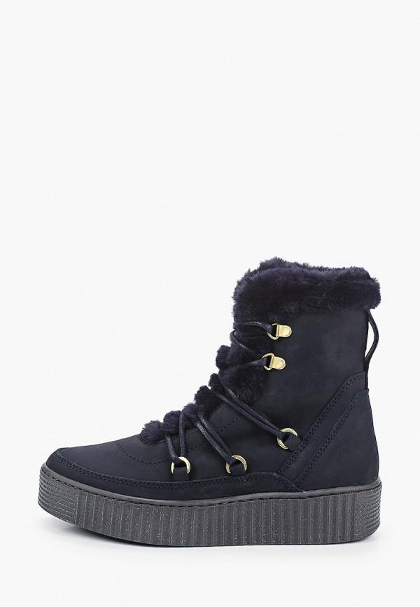 женские высокие ботинки tommy hilfiger, синие