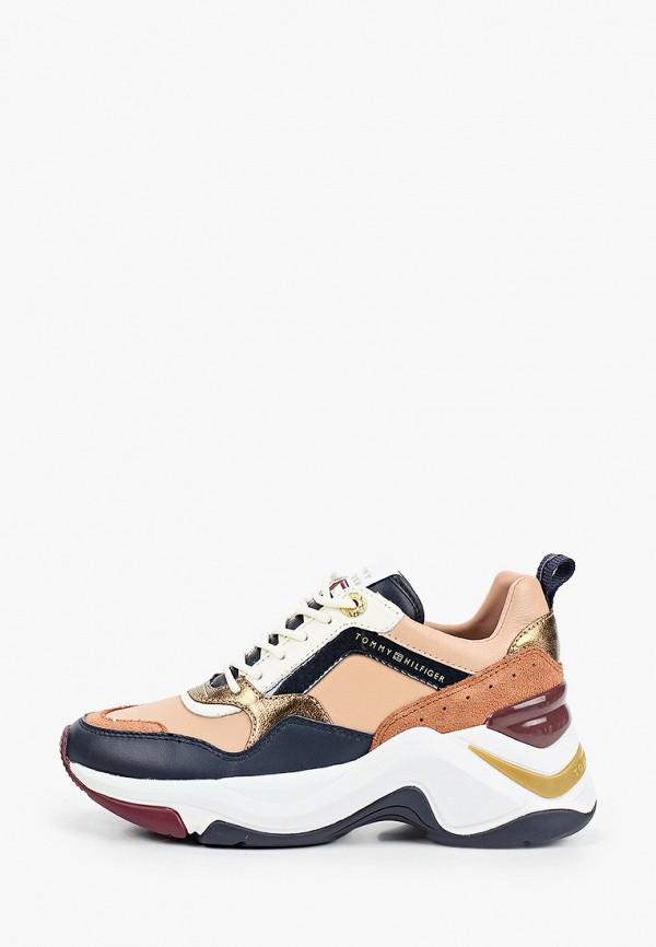 женские кроссовки tommy hilfiger, бежевые