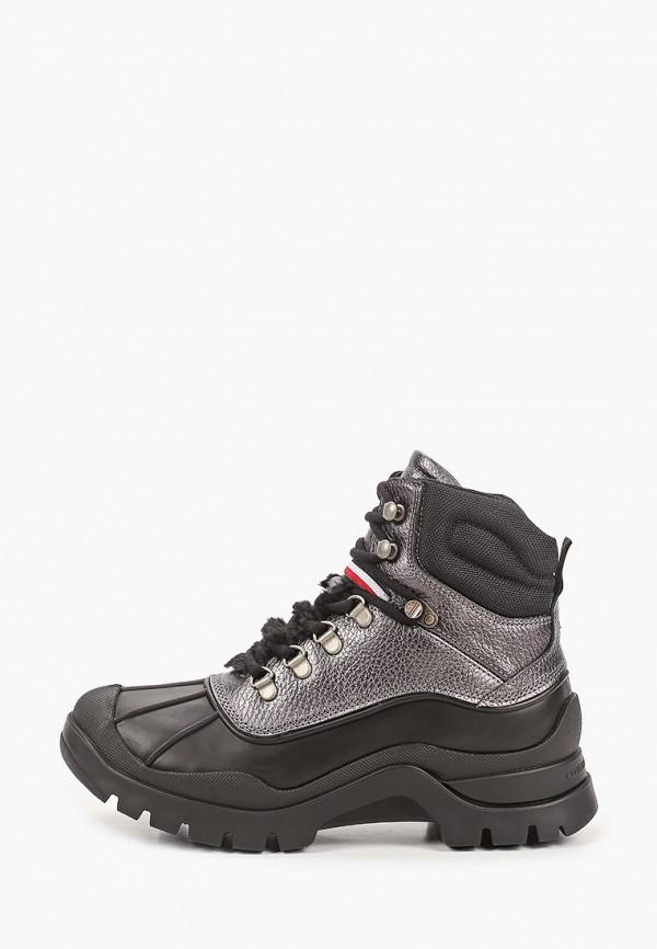женские высокие ботинки tommy hilfiger, черные
