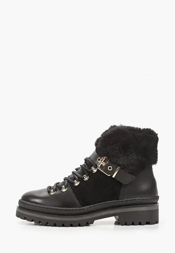 женские низкие ботинки tommy hilfiger, черные