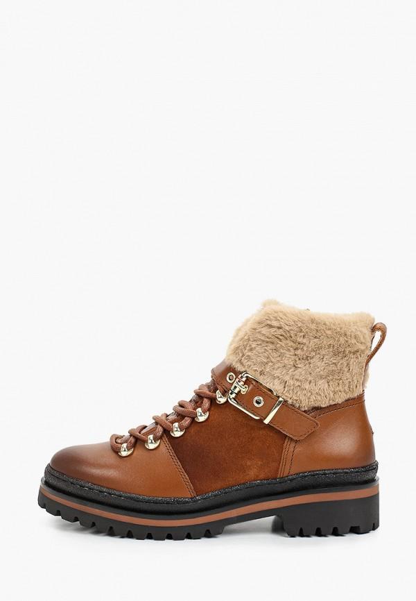 женские низкие ботинки tommy hilfiger, коричневые