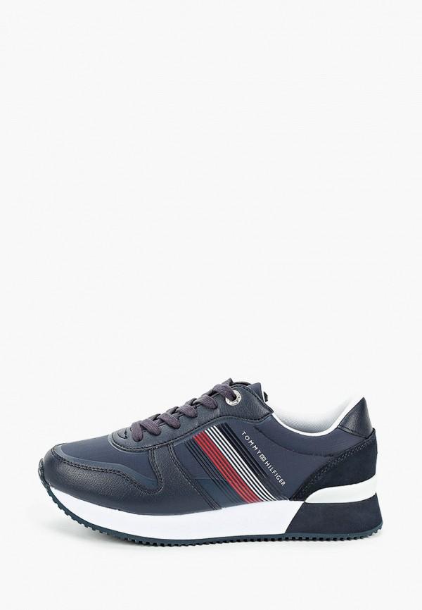 женские низкие кроссовки tommy hilfiger, синие