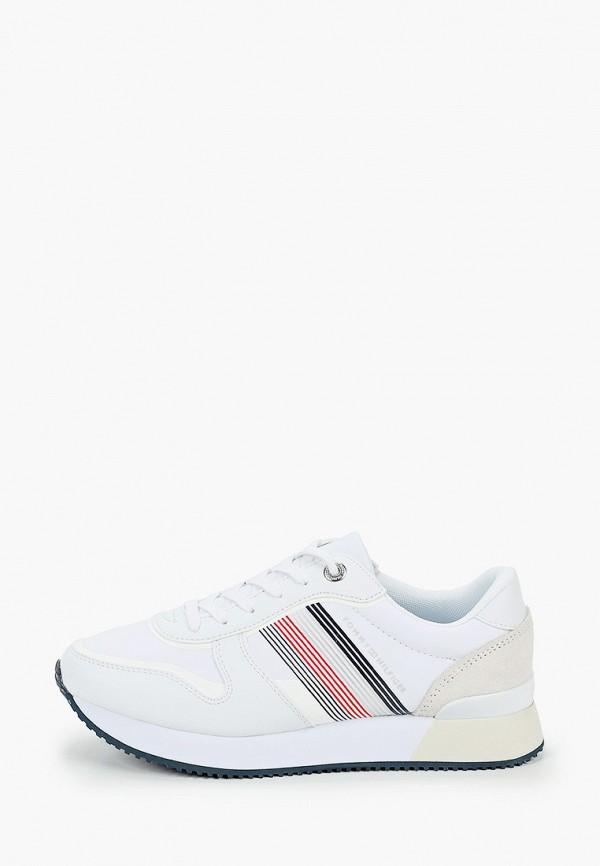 женские низкие кроссовки tommy hilfiger, белые