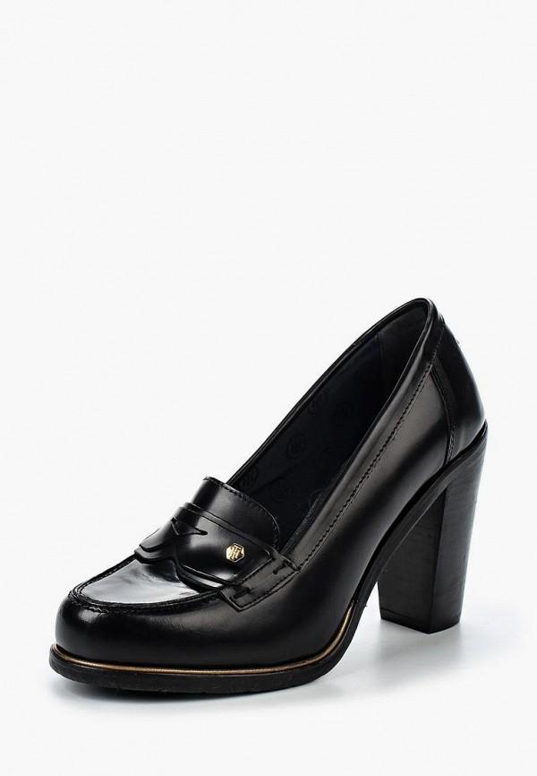 Купить Туфли Tommy Hilfiger, TO263AWKGQ38, черный, Осень-зима 2016/2017