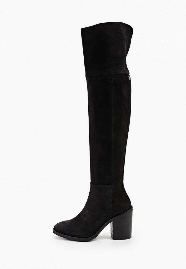 женские ботфорты tommy hilfiger, черные