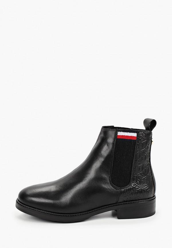 женские ботинки-челси tommy hilfiger, черные