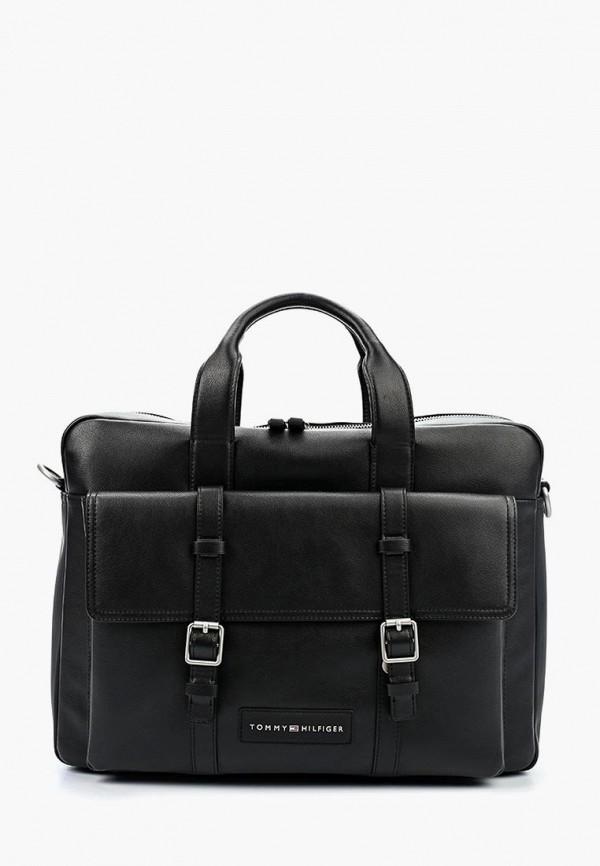 Купить Мужскую сумку Tommy Hilfiger черного цвета