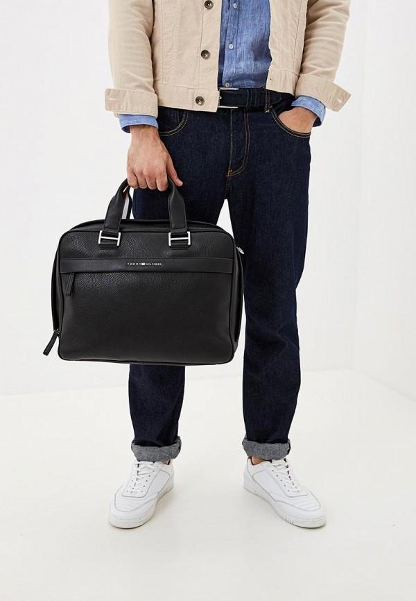 Фото 4 - Мужскую сумку Tommy Hilfiger черного цвета