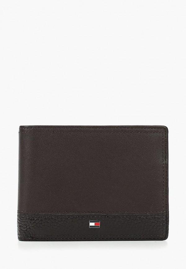 мужской кошелёк tommy hilfiger, коричневый