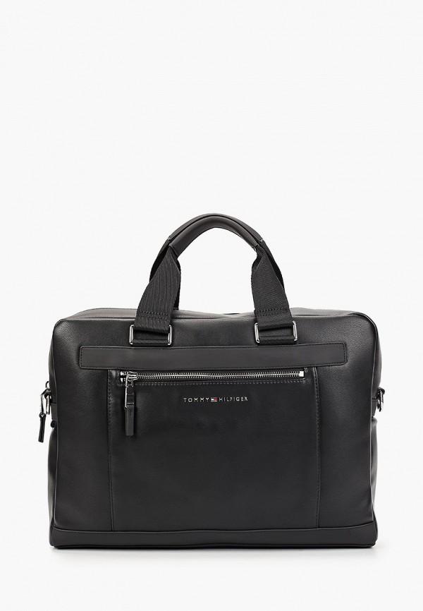Фото - мужскую сумку Tommy Hilfiger черного цвета