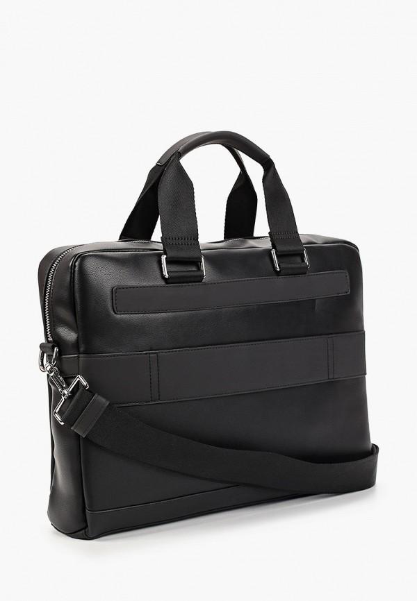 Фото 2 - мужскую сумку Tommy Hilfiger черного цвета