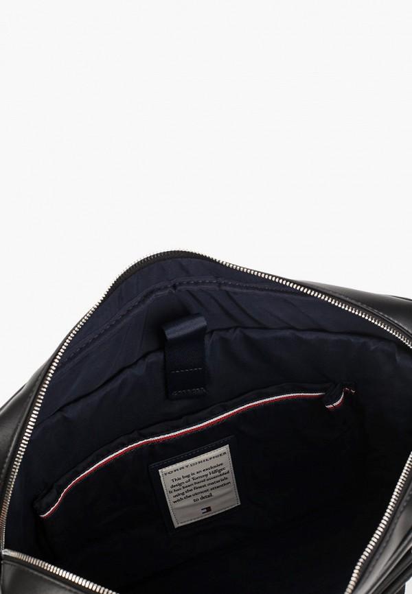 Фото 3 - мужскую сумку Tommy Hilfiger черного цвета