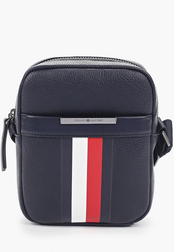 мужская сумка tommy hilfiger, синяя
