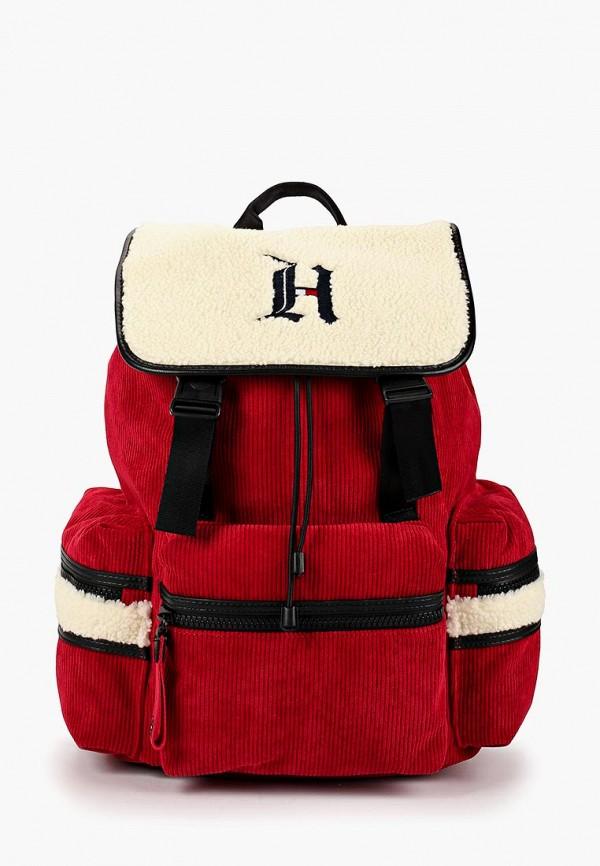 мужской рюкзак tommy hilfiger, красный