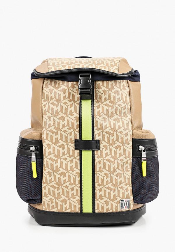 мужской рюкзак tommy hilfiger, бежевый