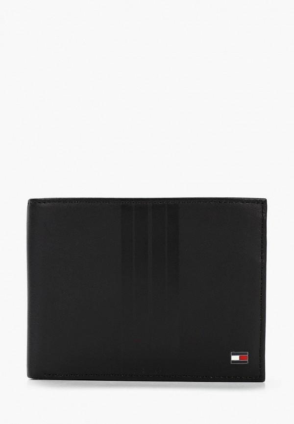 мужское портмоне tommy hilfiger, черное