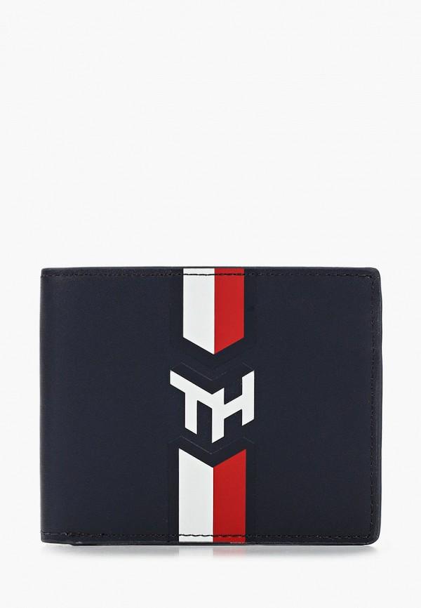 мужской кошелёк tommy hilfiger, синий