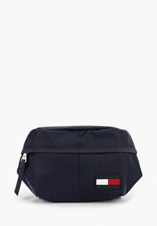 мужская поясные сумка tommy hilfiger, синяя