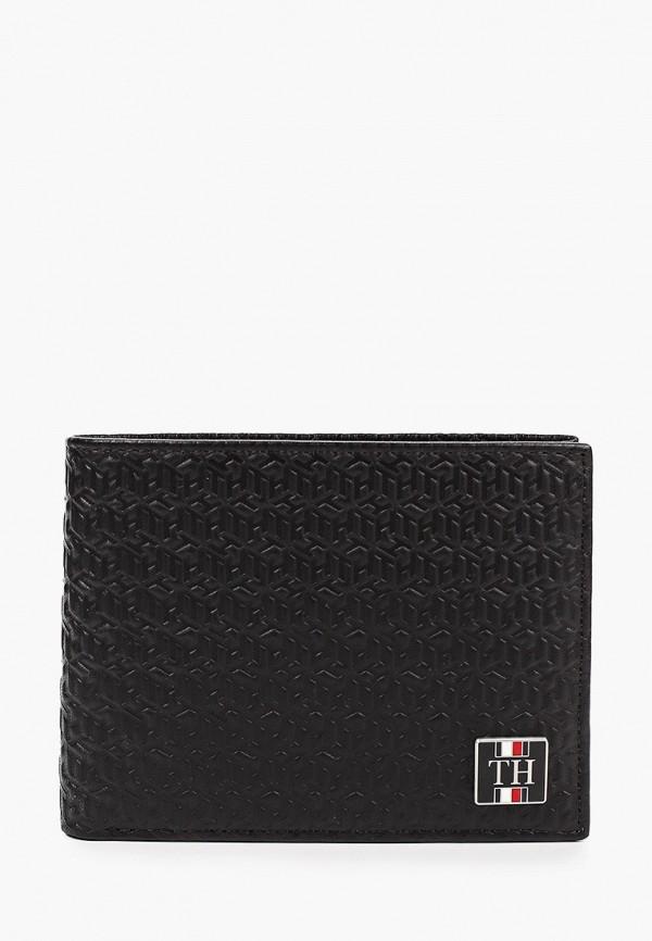 мужской кошелёк tommy hilfiger, черный