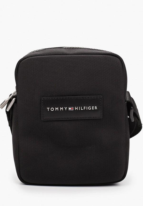 мужская сумка через плечо tommy hilfiger, черная