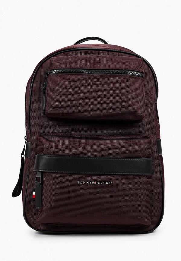 мужской рюкзак tommy hilfiger, бордовый