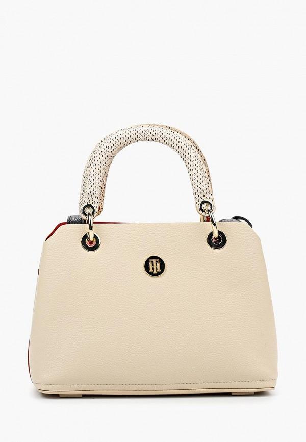 Купить Женскую сумку Tommy Hilfiger бежевого цвета