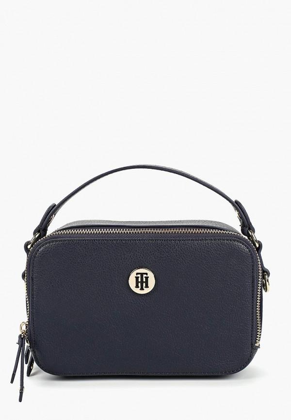 07a2bf255c18 Женская синяя кожаная сумка Tommy Hilfiger