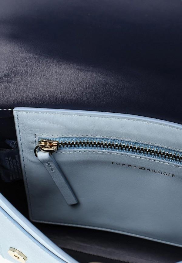 Фото 3 - женскую сумку Tommy Hilfiger голубого цвета