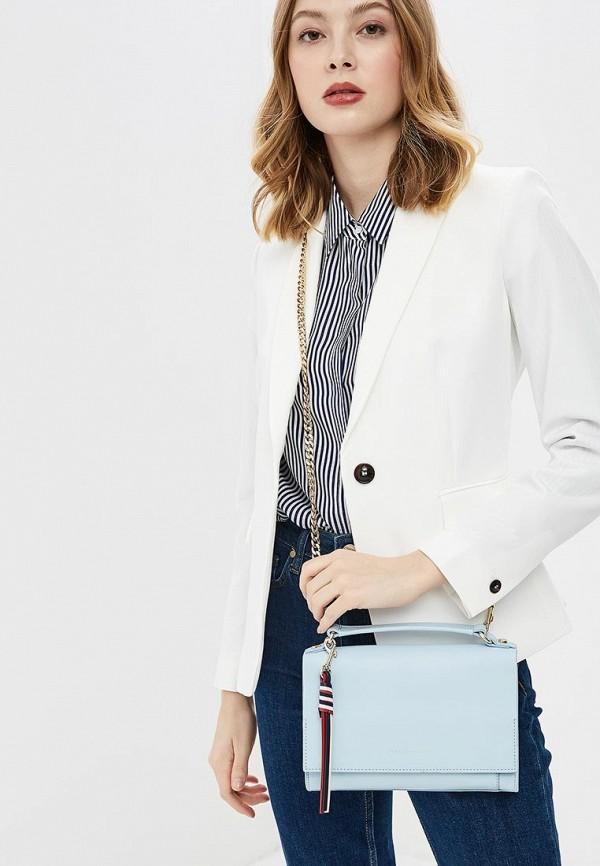 Фото 4 - женскую сумку Tommy Hilfiger голубого цвета