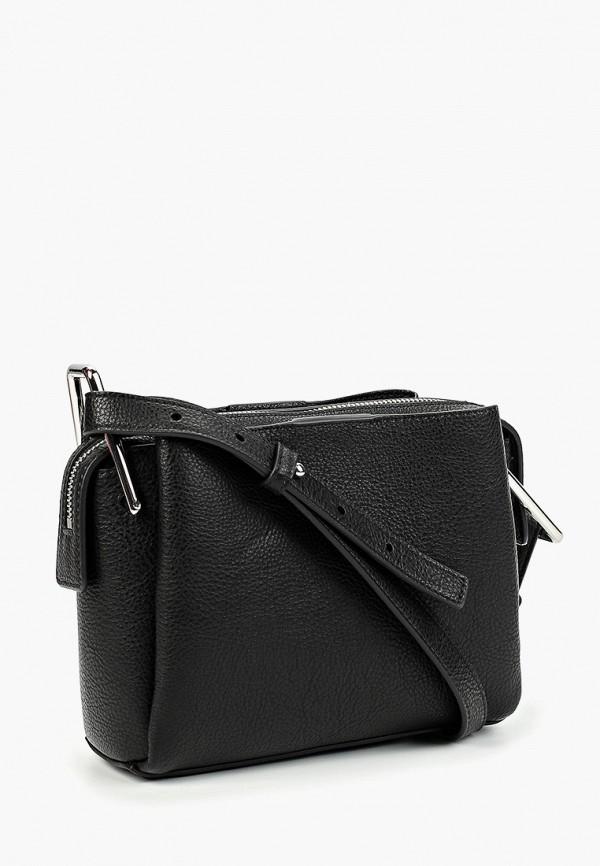 Фото 2 - Женскую сумку Tommy Hilfiger черного цвета