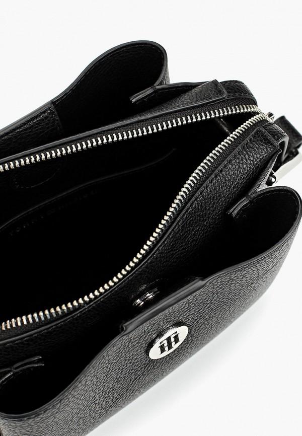 Фото 3 - Женскую сумку Tommy Hilfiger черного цвета